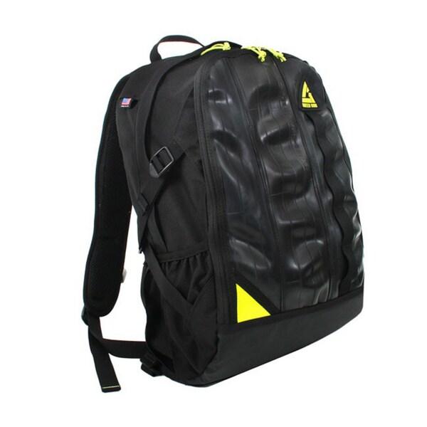 Black 'Spinner' 17-inch Laptop Backpack