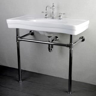 Imperial Vintage 36-inch Wall-mount Chrome Pedestal Bathroom Sink Vanity|https://ak1.ostkcdn.com/images/products/6573333/P14149368.jpg?impolicy=medium