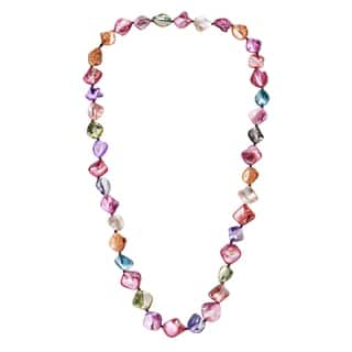 Handmade Mix Color Mother of Pearl Link Cotton Rope Necklace (Thailand)|https://ak1.ostkcdn.com/images/products/6573345/P14149372.jpg?impolicy=medium