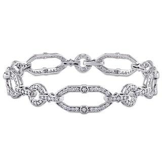 Miadora Signature Collection 14k White Gold 2ct TDW Diamond Bracelet (H-I, SI1-SI2)
