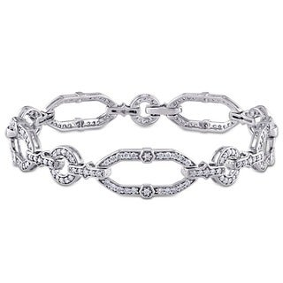 Miadora Signature Collection 14k White Gold 2ct TDW Diamond Bracelet