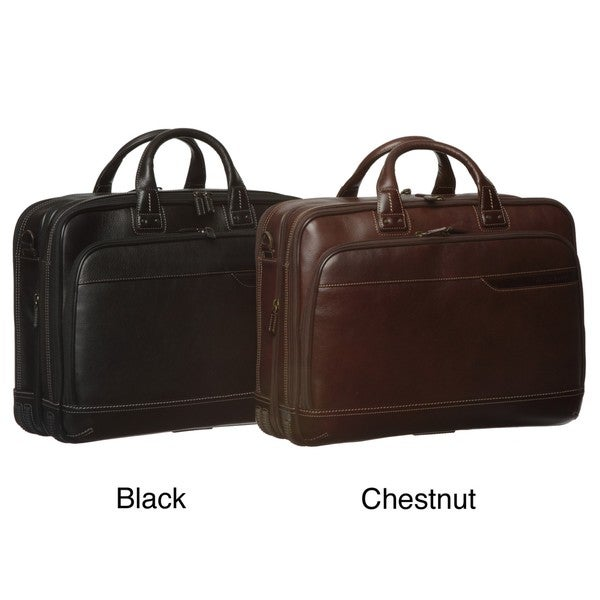 Johnston & Murphy 'Dividends' Deluxe Leather Expandable Briefcase