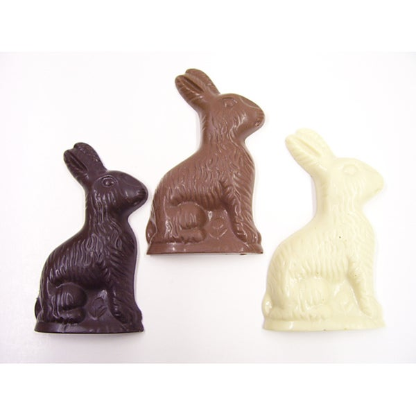 Lang's Chocolates Solid Chocolate Easter Bunnies (Pack of 12)