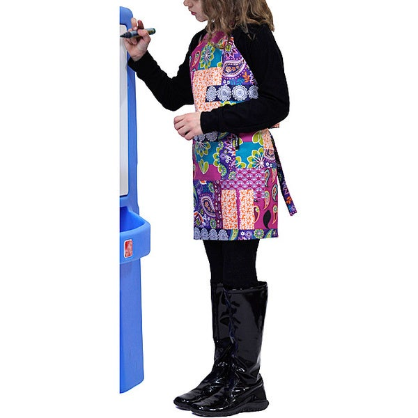 Tango Bright Patchwork Stain-resistant Child Apron