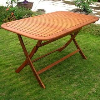 International Caravan Royal Tahiti 59-inch Folding Patio Dining Table