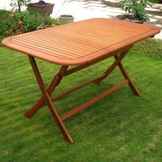 Genial International Caravan Royal Tahiti 59 Inch Folding Patio Dining Table