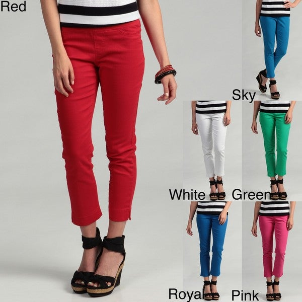 Womens Red Capris - The Else