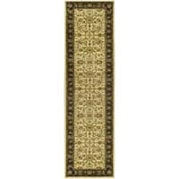 Safavieh Lyndhurst Traditional Oriental Ivory/ Black Rug (2'3 x 18')