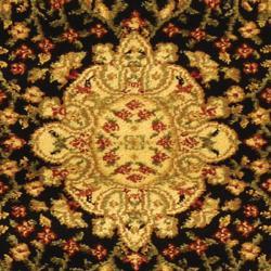 Safavieh Lyndhurst Traditional Oriental Black/ Ivory Rug (2'3 x 18') - Thumbnail 1