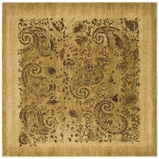 Safavieh Lyndhurst Traditional Paisley Beige/ Multi Rug (7' Square)
