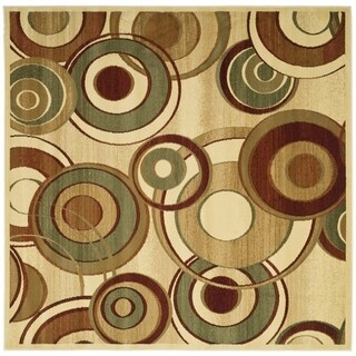 Safavieh Lyndhurst Contemporary Ivory/ Multi Rug (7' Square)