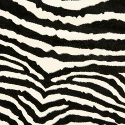 Safavieh Lyndhurst Contemporary Zebra Black/ White Rug (7' Round)