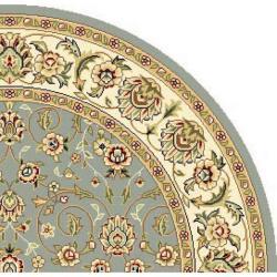 Safavieh Lyndhurst Traditional Oriental Light Blue/ Ivory Rug (7' Round)