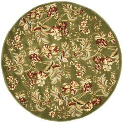 Safavieh Lyndhurst Traditional Floral Sage Rug (7' Round)