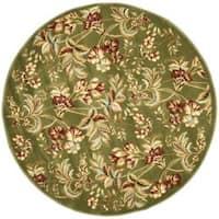 Safavieh Lyndhurst Traditional Floral Sage Rug - 7' x 7' Round