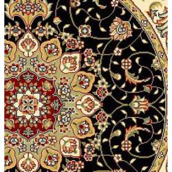 Lyndhurst Collection Traditional Black/ Ivory Rug (7' Round) Safavieh Round/Oval/Square
