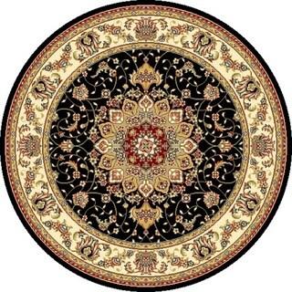 Safavieh Lyndhurst Traditional Oriental Black/ Ivory Rug (7' Round)