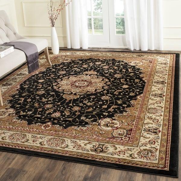 Safavieh Lyndhurst Traditional Oriental Black/ Ivory Rug (7' Square)
