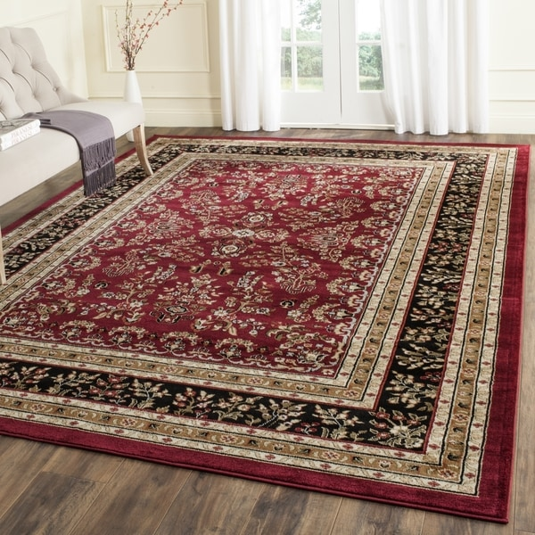 Safavieh Lyndhurst Traditional Oriental Red/ Black Rug (9' x 12')