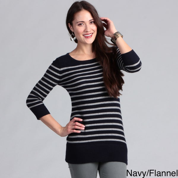 Grace Cashmere Women's Striped Tunic