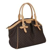 Rioni Signature Print Buckled Canvas Satchel