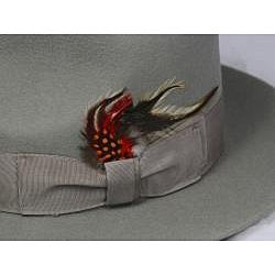 Ferrecci Kid's Grey Green Wool Fedora Hat