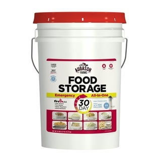 Augason Farms 30-Day All-In-One Emergency Food Storage Pail with Survival Gear