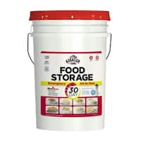 Augason Farms 30-Day All-In-One Emergency Food Storage Pail with Survival Gear - Red