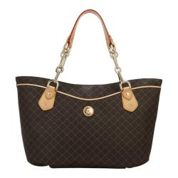 Rioni Signature Print Chain-handled Canvas Tote - Thumbnail 1