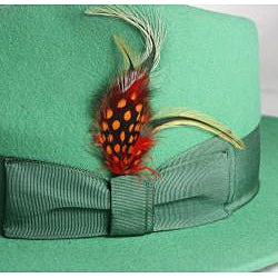 Ferrecci Kid's Mint Green Fedora Hat - Thumbnail 1
