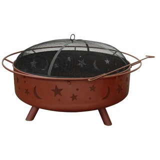 Landmann Super Sky Stars and Moon Fire Pit with Poker/ Spark Guard