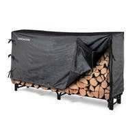 Landmann 8' Black Log Rack with Cover