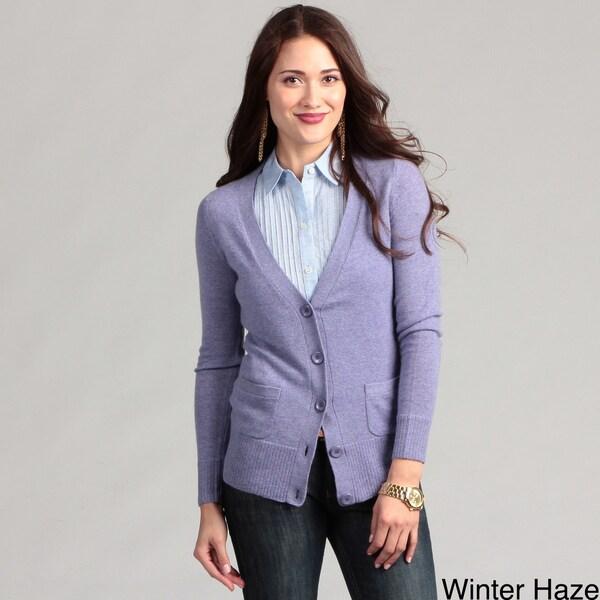 Cullen Women's Cashmere Boyfriend Cardigan Sweater