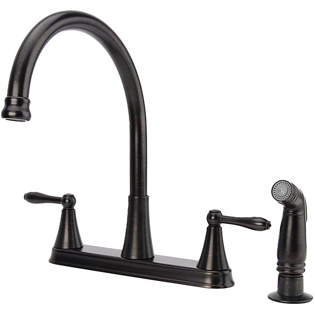 Fontaine Two-handle Oil Rubbed Bronze Kitchen Faucet with Side Spray ...