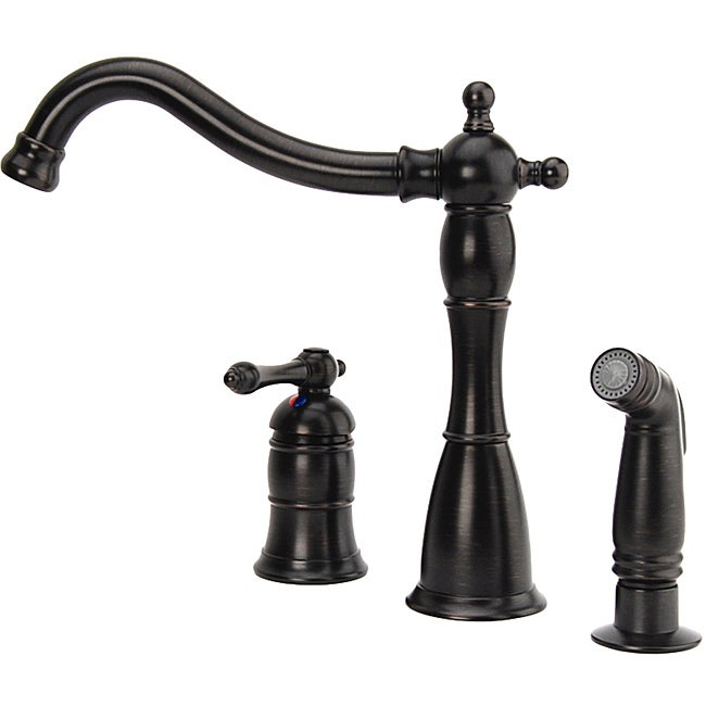 Fontaine Bellver Oil Rubbed Bronze Single Handle Kitchen Faucet