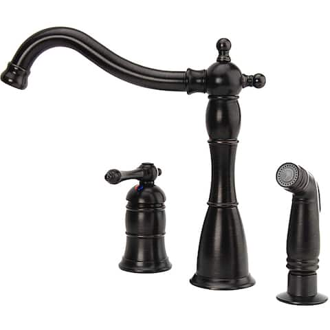 Fontaine Bellver Oil Rubbed Bronze Single Handle Kitchen Faucet - Oil Rubbed Bronze