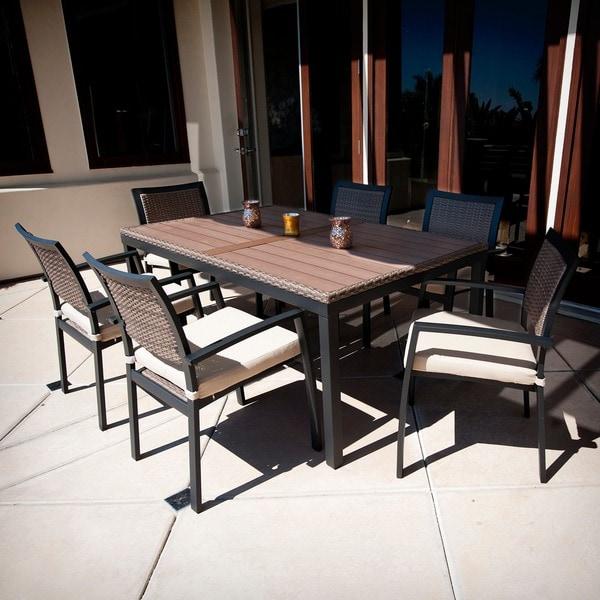 RST Brands Zen 7 Piece Patio Furniture Dining Set