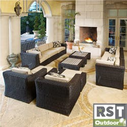 RST Resort Collection 'King Deluxe' Espresso 12-piece Rattan Patio Furniture Set https://ak1.ostkcdn.com/images/products/6573981/RST-Resort-Collection-King-Deluxe-Espresso-12-piece-Rattan-Patio-Furniture-Set-P14149769a.jpg?impolicy=medium