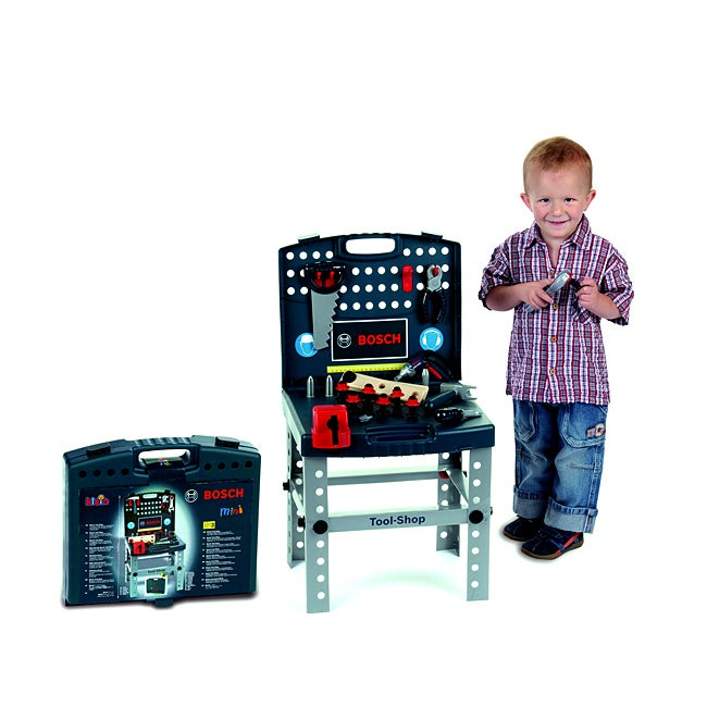 shop theo klein bosch plastic toy tool shop playset with ixolino drill free shipping today. Black Bedroom Furniture Sets. Home Design Ideas
