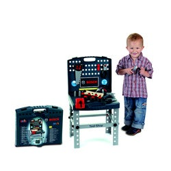 Theo Klein Bosch Plastic Toy Tool Shop Playset with Ixolino Drill