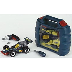 Theo Klein Bosch Blue Plastic Grand Prix Car Set with Carry Case - Thumbnail 0