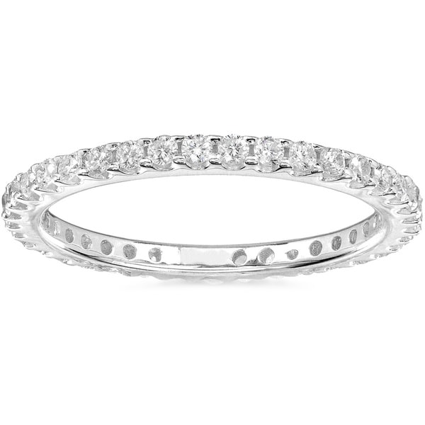 Annello by Kobelli 14k Gold 1/2ct TDW Diamond Eternity Wedding Band