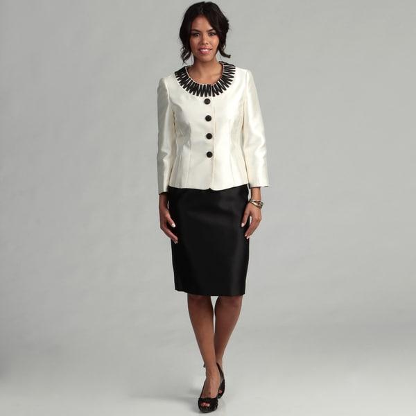 Kasper Women's 2-piece Embroidered Skirt Suit