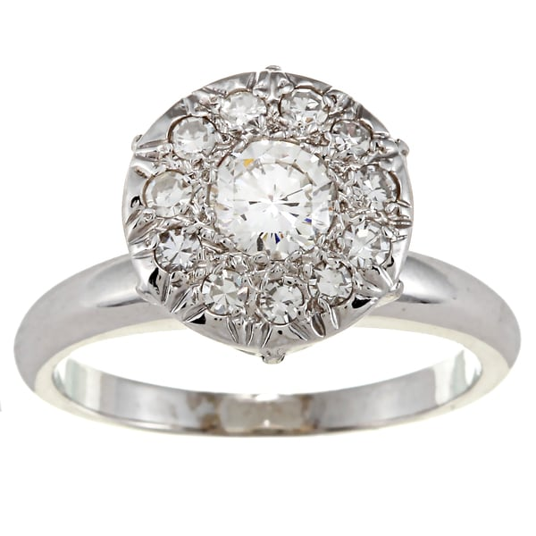 Pre-owned 14k White Gold 1ct TDW Diamond Cocktail Ring (H-I, SI1-SI2)