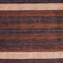 Herat Oriental Indo Hand-knotted Tibetan Terracotta Wool Rug (4' x 6') - Thumbnail 1