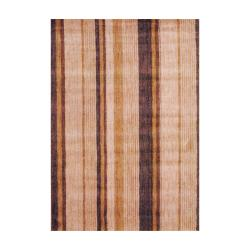Herat Oriental Indo Hand-knotted Tibetan Beige Wool Area Rug (4' x 6') - 4' x 6' - Thumbnail 0
