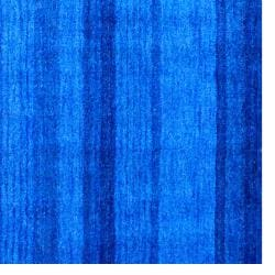 Indo Contemporary Hand-Knotted Tibetan Blue Wool Rug (4' x 6') - Thumbnail 2