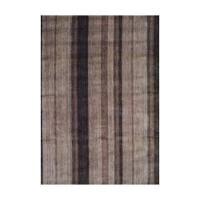 Handmade Herat Oriental Indo Tibetan Brown/ Beige Wool Area Rug - 4' x 6' (India)