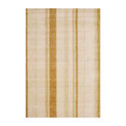 Herat Oriental Indo Hand-knotted Beige Tibetan Wool Rug (4' x 6')