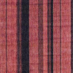 Herat Oriental Indo Hand-Knotted Striped Tibetan Rust Wool Rug (4' x 6')